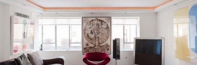 Interjero idėjos – apartamentai Londono lofte